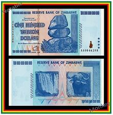$100 Trillion Zimbabwe 2008 AA - U.S. Seller - Great Gift!!