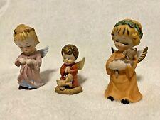 Three Vintage Porcelain Angels