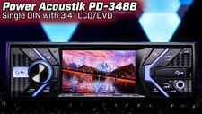 POWER ACOUSTIK PD-348B SINGLE DIN CAR IN-DASH DVD CD BLUETOOTH RECEIVER 3.4