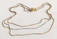 Vintage SARAH COVENTRY Gold Silver Tone Multi Chain Choker Necklace 16""