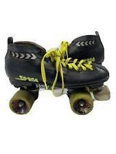 Vintage 90s SP 204 Black Leather Roller Derby Roller Skates Retro