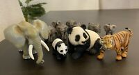 12 Mixed Animal Figures Hard Plastic/Resin Material.. Schleich/Safari LTD/Others