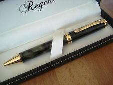 Gros stylo bille,marbré vert marron noir,Regent, luxueux, coffret
