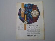 advertising Pubblicità 1961 OROLOGIO LONGINES FLAGSHIP
