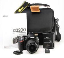 Nikon D3200 DSLR Telecamera + Nikon AF-S 18-55mm KIT LENTI II + 1080p 3,873 scatti EXC