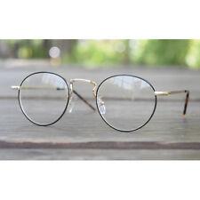 1920s Vintage oliver rétro lunettes rondes 61R10 Black cadres classic eyewear