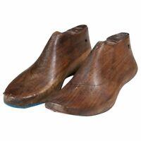 Vecchia forma di scarpa in legno coppia per calzolaio varie misure originali