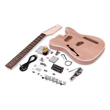 Muslady TL  Style Unfinished Electric Guitar DIY Kit Mahogany Body with E7T4