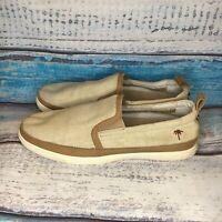 Margaritaville Men's Havana Slip On Shoe Size 12 Canvas Tan light brown Shoe