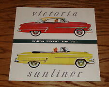 1953 Ford Victoria & Sunliner Foldout Sales Brochure 53