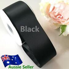 Black double side satin ribbon 50mmx91 M (100Y) for car & Invitation