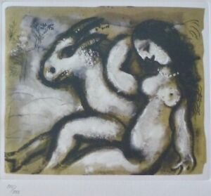 MARC CHAGALL NUDE SHEPHERDESS 1985 SIGNED HAND NUMBERED 115/333 ETCHING