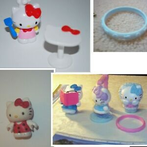 LOT of  HELLO KITTY SMALL FIGURES & Bracelet