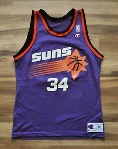 CHARLES BARKLEY #34 PHOENX SUNS Champion Jersey NBA PURPLE MEN 40 Medium
