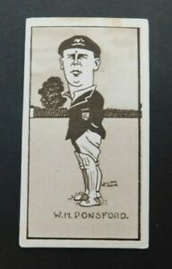 Cigarette Card Sunripe - Caricatures of Famous Cricketers 1926 W H  Ponsford Vic