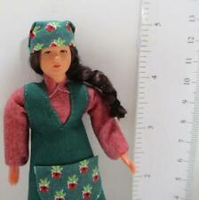 Dressed Lady Gardener Doll 08081 Apron Jeans Caco Dollhouse Miniature