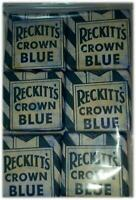 CROWN BLUE - RECKITT'S CROWN BLUE CUBES- 6 BLOCKS- LAUNDRY WHITENER