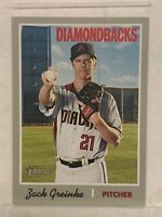 Zack Greinke 2019 Topps Heritage SP Short Print #442 Houston Astros