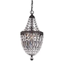Sterling Industries 122-026 Mini Chandelier In Dark Bronze And Clear