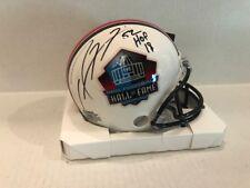 Ray Lewis Signed Hall of Fame Mini Helmet HOF 18 Baltimore Ravens COA Hologram