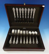 Rose Point by Wallace Sterling Silver Flatware Set For 8 Service 32 Pieces