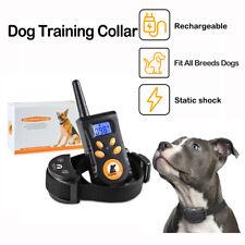 Pet Dog Training Collar Remote Rechargeable Waterproof Anti Barking Shock Collar