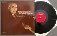 V885 Brahms Piano Pieces Fantasies Gieseking 2LP EMI Dacapo 1 C 147-01 575/76 M