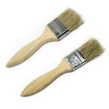 2pcs /set BBQ Barbecue Baking Bristle Sauce Brush Wooden Handle Home Clean Tools