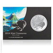 1 oz Silber Kiwi Neuseeland 2014 1 New Zealand Dollar im offiziellen Blister