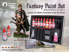Andrea Miniatures AND-PS-05 Fantasy Starter Paint Set: Ainariel Arrow of Light