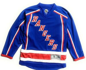 New York Rangers Youth NHL Licensed Team Apparel Replica Blank Jersey