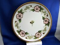 NIPPON HAND PAINTED PLATE, LARGE PINK FLOWERS,GOLD BAND