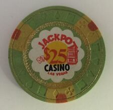 Jackpot Las Vegas $25 Casino Chip Obsolete OBS Old 1971