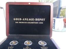 Belgien 12 1/2 Euro 2006 GOLD Leopold I. und vier weitere Goldmünzen 999 Au