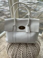 Mulberry Bayswater White Tote Bag with Matching Purse.