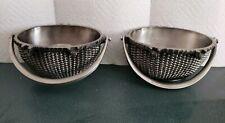 Metal Nantucket Basket Candle Holders