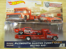 HOT WHEELS 2018 CAR CULTURE TEAM TRANSPORT  MONGOOSE  Plymouth Duster & Rig