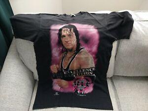 WWF Official Bret 'The Hitman' Hart T Shirt Size L