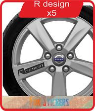 Volvo r-design logo roue jante decals stickers X 5 - couleur au choix
