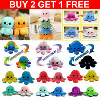 Reversible Octopus Flip Sided Plush Soft Plush Simulation Doll Toy Emotional