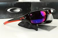 NEW Oakley Valve Sunglasses OO9236-02 Polished Black Positive Red Iridium Lens