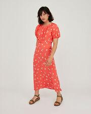 Oliver Bonas Women Daisy Print Pink Midi Dress