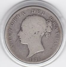 1877    Young    Head  Half  Crown  (2/6d) -  Sterling  Silver  Coin