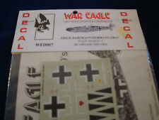 HARTMANN GRAF MESSERSCHMIDT BF109G WED007 WAR EAGLE DECAL DECALS