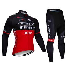 2020 Men's Cycling Jacket Tights Sets Long Sleeve Riding Jersey Long Pants Kits