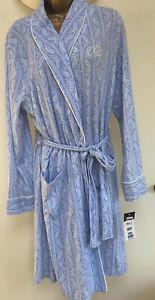 Ralph Lauren Dressing Gown L Large Paisley Print Blue/white