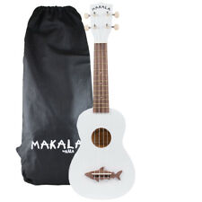 Kala Great White Makala Soprano Shark Ukulele - MK-SS/WHT with Bag