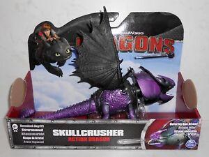 Spin Master DreamWorks Dragons: SKULLCRUSHER Purple How to Train Your Dragon NiB