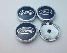 New 4x 60mm BLUE Ford Alloy Wheel Centre Hub Caps Focus Fiesta