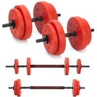 20KG Gym Dumbbell + Barbell Lightly padded indoor Workout Bodybuilding weights